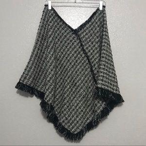 Motherhood Maternity Sweaters - Motherhood Maternity ONE SIZE Black Shawl Poncho